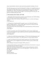 former apush essay questions