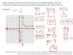 essential question how do you find intercepts vertical asymptotes horizontal asymptotes and holes