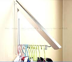wall mounted clothes drying rack perfect unique bathtub clothesline home design bathroom hair dryer moun