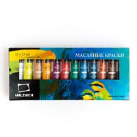 <b>Набор масляных красок Малевичъ</b>, 12 цв. по 12 мл | Купить ...