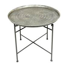 stylish metal end table round metal end table remodel