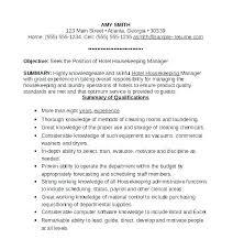 Sample Resume For Housekeeper Resume For Housekeeping Job