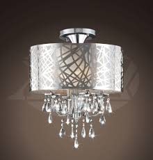 ... Large Size of Chandeliers Design:wonderful Chrome Chandelier Fides  Shaded Grey Effect Lamp Pendant Ceiling ...