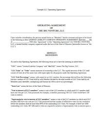 template for llc operating agreement 30 professional llc operating agreement templates template lab