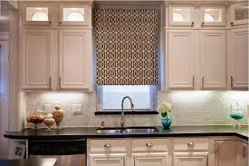 image of small kitchen windows treatment ideas