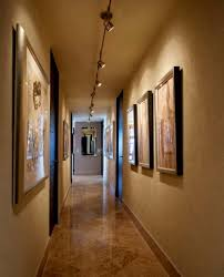 art gallery track lighting. Hallway With Track Lighting And Framed Arts : Great Arrangement Tips Art Gallery .