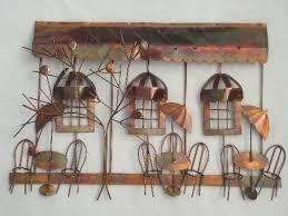 vintage metal wall art sculpture