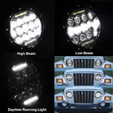 Hummer H2 Fog Light Bulb Us 66 3 35 Off Pair 75w 7inch Led Headlights Bulb Drl For Jeep Wrangler Jk Hummer H1 H2 Harley Headlamp Driving Light In Car Light Assembly From