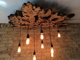 industrial lighting chandelier. Large Live-Edge Olive Wood Chandelier With Edison Bulbs//Rustic//Contemporary Industrial Lighting H