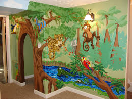 Beautiful Playhouse with Whimsical Jungle Mural | kids decor ...