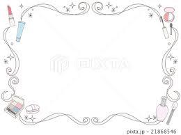 コスメのフレーム素材のイラスト素材 21868546 Pixta