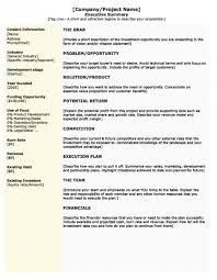 Executive Summary Outline 022 Business Plan Executive Summary Outline Amazing Mission