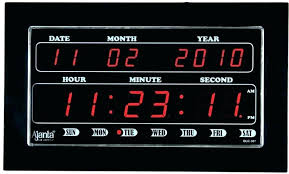 digital wall clock with temperature led