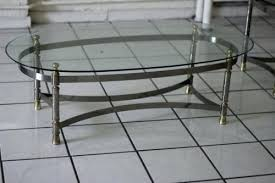 coffee table glasetal round glass top coffee table with metal base canada