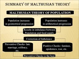 comperative study about optimum and malthusian theory of population  population pessimistic theory ignores modern means of birth control 8 summary of malthusian