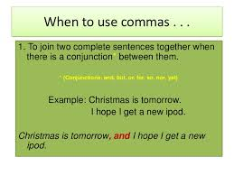 when is a comma used combining sentences with semicolons and commas