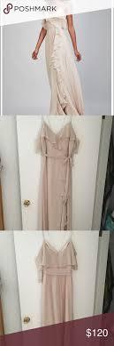 Theia Bridesmaid Gown Eduarda Champagne Size 10 Theia