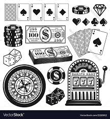 Poker Design Poker And Casino Gambling Objects Design Elements