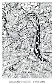 Loch Ness Monster Coloring Pages Monster Coloring Pages Click The