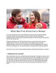 what do man find attractive about woman
