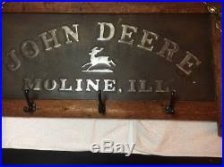 John Deere Coat Rack Embossed John Deere Signs 83