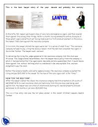 Best Lawyer Story Inquiry Unit Lecture Notes Docsity