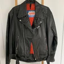 mens shoei vintage leather motorcycle jacket