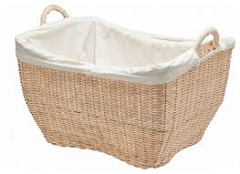 Pretty Laundry Baskets New Wicker Laundry Basket With Liner Natural Color Beach Style