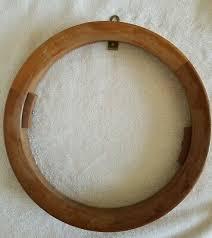 vintage carved wooden decorative plate