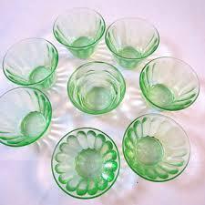 8 vintage green nut cups hazel atlas depression glass antique gr