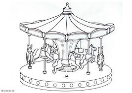 Small Picture Coloring page merry go round Kleurplaat Pinterest Disegni da