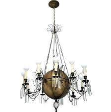 antique brass crystal chandelier value vintage