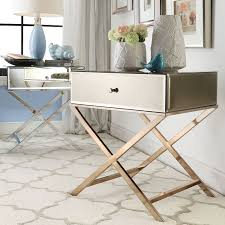 INSPIRE Q Genoa X Base Mirrored Accent Campaign Table - Overstock Shopping  - Great Deals