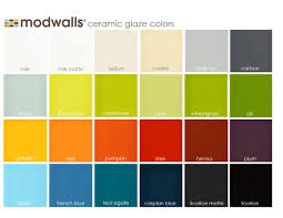 Glaze Color Chart Modwalls Ceramic Tile Glaze Color Chart For All Of Porcelain