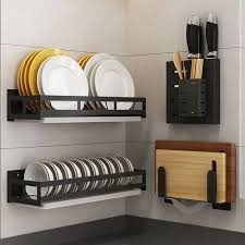 kitchen storage shelf hanging pot rack