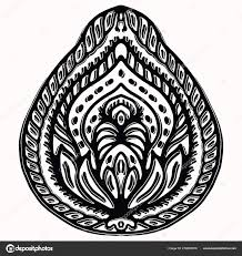 Graphic Design Paisley Paisley Nature Folk Art Graphic Design Element Hand Drawn