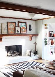 painting a fireplace whiteBrick Fireplace To Paint or Not to Paint  Lovely Indeed