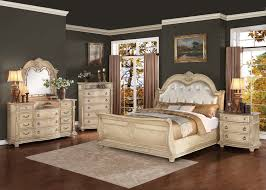 brown and white bedroom furniture. Homelegance Palace II Upholstered Bedroom Set - Antique White Brown And Furniture
