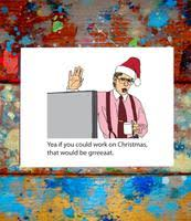 Bill Lumbergh Office Space Merry Christmas Card Letmedrawyourpicture