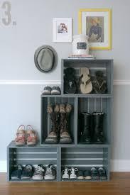 5 diy crate shoe rack