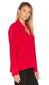 Norma Kamali Nk Box Shirt Red Women Norma Kamali Size Chart