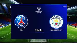 PES 2020 - PSG vs Manchester City - UEFA Champions League Final UCL - 20/21  Season Gameplay - YouTube