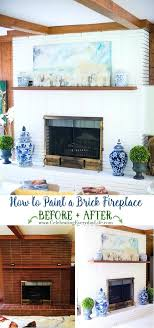 white painted fireplace white painted fireplace paint can you a wooden brick whitewashed painted brick fireplace