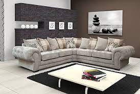 cream furniture living room. Plain Room CornerSofaVeronaFabricGreyBrownCreamDesigner And Cream Furniture Living Room