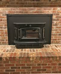 wood burning fireplace insert in indy