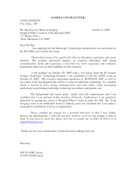 Ideas Of Sample Application Letter Medical Technologist About