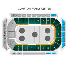 Compton Family Ice Arena 2019 Seating Chart