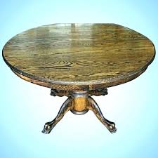 antique claw foot table value round rare early oak dining tables with feet drop leaf