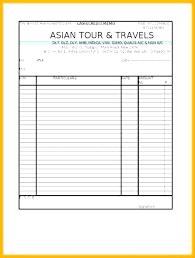 Travel Agency Cash Receipt Format Travel Receipt Template
