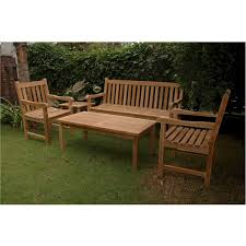 anderson teak classic patio conversation set
